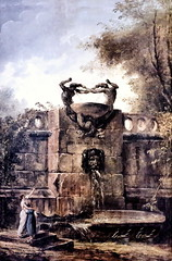 IMG_8350 Hubert Robert. 1733-1808. Paris. Fontaine dans un parc. Fountain in a park. 1797. Hannove (jean louis mazieres) Tags: robert museum germany painting deutschland muse museo allemagne peintures peintres hanovre hannnover landesmuseumhubert