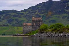 Eilean Donan castle (Lena and Igor) Tags: mountain lake reflection castle water clouds scotland eilean donan