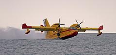 Canadair CL-215 (vic_206) Tags: sea water mar agua mataro hidroavión canadaircl215 canon300f4lis canoneos7d festadelcel2015
