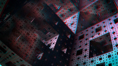 Beyond Worlds (Anaglyph) (Rudolf Getel) Tags: abstract 3d anaglyph mathematics fractal mengersponge attribution redcyan mandelbulber