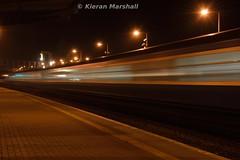 Cravens depart Portarlington, 3/10/15 (hurricanemk1c) Tags: irish train rail railway trains nightphoto railways irishrail portarlington cravens 2015 iarnród éireann rpsi emeraldisleexpress iarnródéireann railtoursireland 1855westportheuston