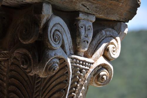 Bula d'Amunt. Serrabona priory. Capital. 12th C.