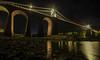 (Glen Parry Photography) Tags: nightphotography bridge light water wales night nikon rocks sigma ynysmon anglesey sigma1020mm menaistraits menaibridge glenparryphotography