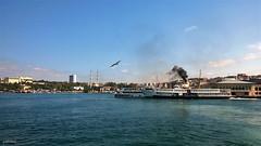 Kadıköy Ferry Port (cokbilmis-foto) Tags: sea ferry turkey boat ship smoke türkiye istanbul 925 kus marmara kadıköy lumia denizi kadiköy iskelesi
