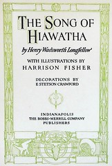 """Title Page: """"The Song of Hiawatha"""" by Henry Wadsworth Longfellow. Indianapolis: Bobbs-Merrill, (1906) (lhboudreau) Tags: illustration book etching poetry poem drawing illustrations drawings books nativeamerican engraving 1906 longfellow nativeamericans americanindians americanindian bookart minnehaha engravings hardcover etchings hiawatha titlepage vintagebook poetrybook henrywadsworthlongfellow vintagebooks classicbook gitchegumee hardcovers epicpoem classicbooks vintagepoem harrisonfisher thesongofhiawatha songofhiawatha hardcoverbooks hardcoverbook thebobbsmerrillcompany classicpoetry vintagehardcoverbook bobbsmerrill vintagepoetrybook classicpoem bobbsmerrillcompany vintagehardcoverbooks ontheshoresofgitchegumee"""