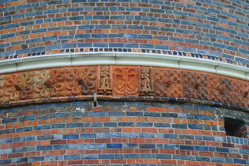 architectural detail of Holstentor in Lübeck