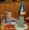 Rapunzel's Tower Birthday Cake