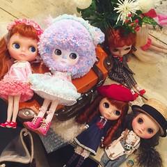 天下無不散之宴席,只好下次再見了 😊!嗯!All good times must come to an end... Till next time, my #friends // #love #blythe #customblythe #kennerblythe #vintage #doll #カスタムブライス #ブライス #人形