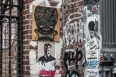 Faces of the LES (SamuelWalters74) Tags: newyorkcity streetart newyork les graffiti unitedstates manhattan lowereastside rivingtonstreet humanartifacts