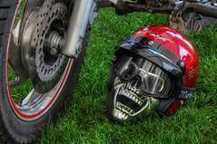 Copdock Classic Motorcycle Show II (Lee Nichols) Tags: photoshop skull motorcycles bikes motorbike motorcycle motorbikes hdr highdynamicrange bikers crashhelmet photomatix tonemapped tonemapping handheldhdr canoneos600d copdockclassicmotorcycleshow
