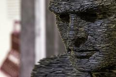 Slate sculpture of Turing (Nigel Fox (insignia50)) Tags: alan scuplture slate turing