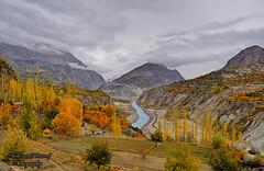 Autumn in Wonderland (Shehzaad Maroof Khan) Tags: autumn pakistan nature colors clouds river countryside terraces fields karakoram hunza cloudsscape gilgitbaltistan