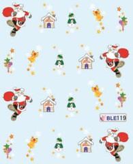 BLE119 (Jasmeet.k) Tags: santa christmas xmas tree art water nail slide musical decal transfer nailart bombastic