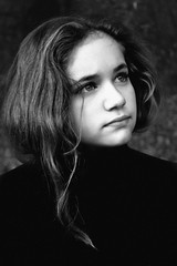 Ioni (Krea Theo) Tags: portrait bw girl beauty childhood angel canon photography kid eyes child innocence belle sight fairness loveliness anawesomeshot elitechildimages
