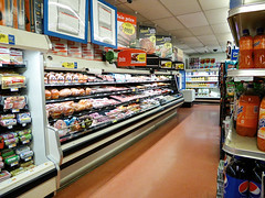 Fresh Meat (Nicholas Eckhart) Tags: ohio usa retail america vintage us interior supermarket oh grocery stores kroger 2015 wellston