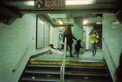 1st av (Ren Sterling) Tags: street new york city nyc film station yellow 35mm subway t 1st kodak coat olympus vision xa 14th 800 cinestill