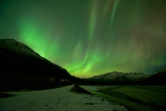 Aurora toward Keystone Canyon (wolphcry) Tags: alaska aurora valdez northernlights thompsonpass