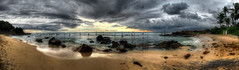 The beach (Saint-Exupery) Tags: beach pano playa srilanka galle iphone weligama