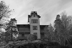 288 av 365 - Fantasi (Yvonne L Sweden) Tags: blackandwhite building monochrome blw sweden fantasy svartvitt fantasi strabrunn 365foton 3652015