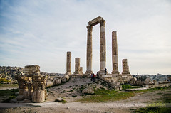 Temple of Hercules, Amman, Jordan (Seven Seconds Before Sunrise) Tags: travel sky clouds landscape temple asia amman middleeast jordan ammancitadel templeofhercules