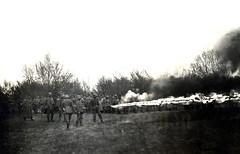 Flammenwerfer squad operating a Kleif M.1917, Galicia circa 1917 / Generaloberst Felix Graf von Bothmer ( drakegoodman ) Tags: general galicia german soldiers ww1 1wk greatwar firstworldwar soldat kuk weltkrieg feldgrau austrohungarian stahlhelm feldpost flammenwerfer