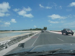 Driving along the thin island of Tarawa!