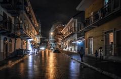 Panama, the old city (urbanexpl0rer) Tags: panamacity panama streetshot street streetphotography rain reflections night nightphotography streetlife people buildings latinoamericana