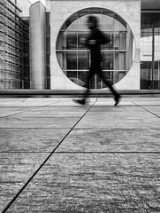 Focus II (Dan-Schneider) Tags: streetphotography schwarzweiss silhouette blackandwhite bw bewegungsunschärfe olympus omdem10 monochrome berlin urban human
