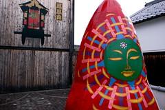 the green sun (troutfactory) Tags: sculpture colorful greensun art artwork artfestival 篠山市 sasayama 関西 kansai 日本 japan ricohgrd2 digital