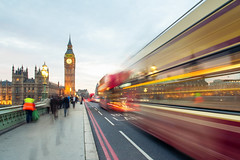 On the move (Simon-Leigh) Tags: london westminster bus bigben traffic people nikon d700
