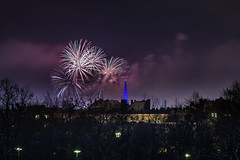 _MG_5243 WOSP 2017. (Sakuto) Tags: fireworks light night city poznan wosp landscape tower blue colors outdoor colorful poland sky