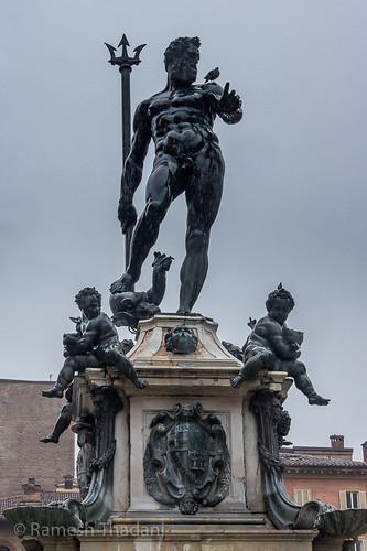 Neptune in the rain