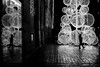 In the christmas tree's light (pascalcolin1) Tags: paris13 placeditalie pluie rain reflets reflection nuit night christmastree arbredenoel sapin enfant child photoderue streetview urbanarte noiretblanc blackandwhite photopascalcolin
