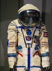 Russian spacesuit, Sokol KV-2 (chrisjohnbeckett) Tags: russia spacesuit space helensharman sokol soyuztm12 exhibition sciencemuseum london chrisbeckett canonef24105mmf4lisusm ballard outerspace spacestation badge technology spacerace cosmonaut red unionjack british astronaut