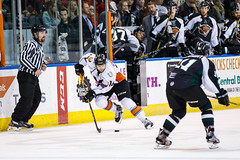 "Missouri Mavericks vs. Utah Grizzlies, December 28, 2016, Silverstein Eye Centers Arena, Independence, Missouri.  Photo: John Howe / Howe Creative Photography • <a style=""font-size:0.8em;"" href=""http://www.flickr.com/photos/134016632@N02/31813516282/"" target=""_blank"">View on Flickr</a>"