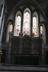 Sanctuary and east window, Brecon Cathedral (pluralzed) Tags: anglican brecon breconcathedral cathedral churchinwales powys sanctuary reredos altar highaltar eastwindow