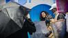 P1040116 (JESUSGX8) Tags: chaouen morroco marruecos street paraguas umbrella yellow blue travel lumix lumixgx8 summilux