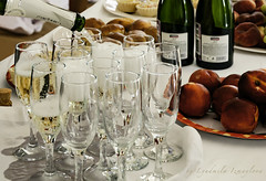 Happy New Year, my dear friends! (Lyutik966) Tags: champagne drink alcohol celebration table fruit wineglass froth bottle