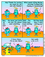 Helibot help. (nikkibass20) Tags: robot helibot aliens animation tv series cartoon strip comedy cute cool comic colour extraterrestrial entertainment episodes funny fun friendly ufo space spaceships toons television marstv kawaii original humor jokes knobby mars martians marty martiantv nikkibass robots planets programme solar system