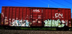 yesh - oye/won2 '05 (timetomakethepasta) Tags: yesh oye won2 uaa atlanta freight train graffiti art boxcar nosey 42 cn canadian national yat moniker