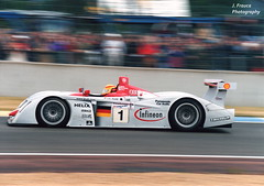 Le Mans 2001 – Audi R8 FSI - Winner (Javier Frauca) Tags: car carreras resistencia sport velocidad endurance race motorsport 24 heures hours lemans le mans 2001 winner audi r8 fsi audir8fsi nikon f80