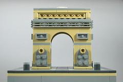 LEGO Arc de Triomphe 1 (xtitus) Tags: lego micro micropolis arcdetriophe paris architecture