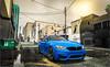 BMW M4 (GTA V) (iphoto.geri) Tags: bmw bmwm4 m4 blue car auto grandtheftauto gta gta5 gtav carbon city rain rainy cloud graphics mods ultra settings