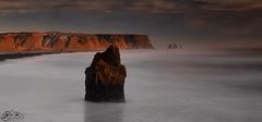 Arnardrangur & Reynisdrangar (►►M J Turner Photography ◄◄) Tags: kirkjufjara iceland southiceland sea ocean seascape rockstack sunset