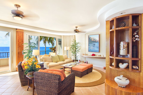 Oceanfront Resort Condo - Living Area