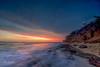 Sunset at Diamond Head Beach Road 03 (JUNEAU BISCUITS) Tags: diamondhead diamondheadbeachpark hawaii oahu honolulu sunset vog clouds cloudscape ocean beach landscape nikond810 nikon longexposure leefilters