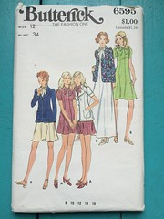 Butterick 6595 (kittee) Tags: kittee vintage vintagesewing sewing pattern vintagepattern butterick 6595 butterick6595 size12 bust34 nodate 1970s 1960s dress flared princessseams puffsleeves patchpockets jacket blazer suit shortsleeves