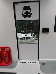 8 StromTrooper Door (christianodendaal) Tags: office hipster geeky tech trendy fun london whitechapel unruly smalls start up startup media company agency funny themed starwars star wars meeting room storm trooper stormtrooper force awakens