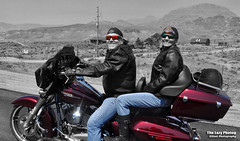 Aug 16 2015 - Wally and Holly on the road to Pahaska (La_Z_Photog) Tags: lazy photog elliott photography august 2015 motorcycle ride up north fork shoshone wapiti pahaska tepee cody wyoming friends harley davidson beautiful mountains wildlife 081615pahaskamotorcycleride