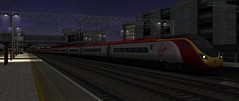 WCML Trent Valley - Chase The Moon (onelimatwenty) Tags: train ts2015 ts2016 ts2017 trainsimulator trentvalley wcml westcoastmailline virgintrains pendolino class390